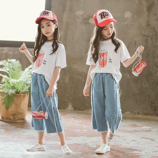 T-Shirt | Print | Jean | Kid | Set