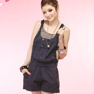 Buy Tokyo Fashion Sleeveless Double-Buttoned Playsuit 1022963869