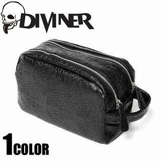 Picture of Diviner Croc-Grain Patent Double-Zipper Clutch Black - One Size 1022968754 (Diviner, Clutches, Japan Bags, Mens Bags, Mens Clutches)