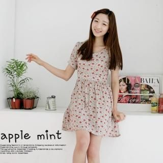 Buy lovemark Floral Print Puff Sleeve Dress 1022542387