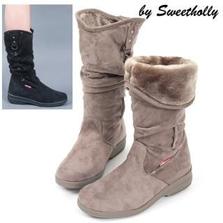 Buy Holly Shoes Fleece Lining Faux-Suede Boots 1021466666