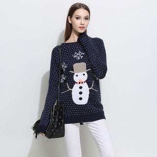 Long-Sleeve Printed Knit Top 1062494993