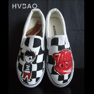 Picture of HVBAO Chessboard Kid Slip-Ons 1016480451 (Slip-On Shoes, HVBAO Shoes, Taiwan Shoes, Womens Shoes, Womens Slip-On Shoes)