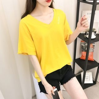 V-Neck Short-Sleeve T-Shirt 1065580542