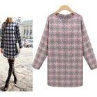 Plaid Long Sleeve Mini Dress 1596
