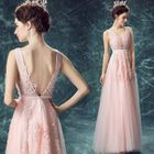 Lace Applique Sleeveless A-line Evening Gown от YesStyle.com INT