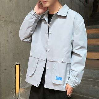 Image of Buttoned Shirt Jacket