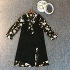 Set: Sleeveless Knit Dress + Floral Chiffon Dress 1596