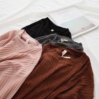 Long-Sleeve Ribbed T-Shirt 1064514104