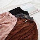 Long-Sleeve Ribbed T-Shirt 1596