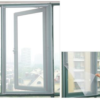 Image of DIY Self Adhesive Window Screen As Shown In Figure - One Size