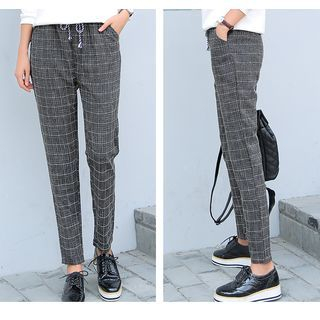 Plaid Harem Pants 1050865820