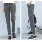 Plaid Harem Pants 1596