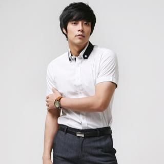 Buy Newyork Story Homme Detachable Collar Short-Sleeve Dress Shirt 1022798498