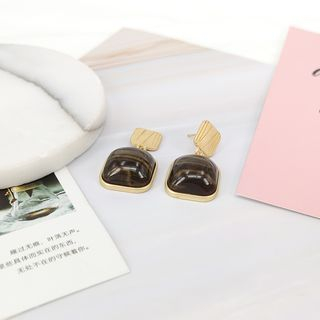 Image of Agate Square Dangle Earring