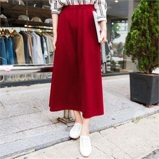 Band-Waist Long Skirt 1053138214
