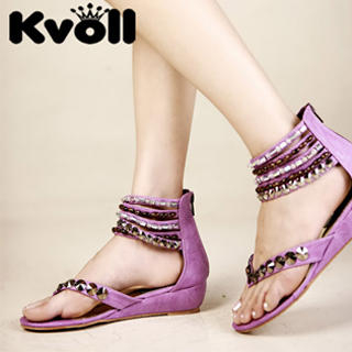 Picture of Kvoll Studs & Beads Cuff Sandals 1022987204 (Sandals, Kvoll Shoes, China Shoes, Womens Shoes, Womens Sandals)