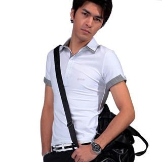 Picture of Justyle Contrast-Trim Short-Sleeve Polo Shirt 1022741013 (Justyle, Mens Tees, China)