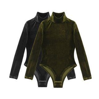 Mock Neck Long-Sleeve Bodysuit