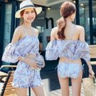 Set: Floral Bikini + Swim Shorts 1596