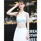 Set: Plain Bikini + Skirt 1596