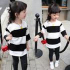 Kids Striped 3/4-Sleeve T-Shirt 1596