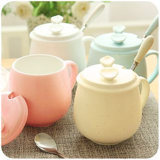 Coffee Cup with Spoon & Lid 1050442036