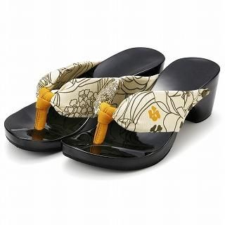 Picture of Mizutori High-Heeled Wood Sandals 1019588122 (Sandals, Mizutori Shoes, Japan Shoes, Womens Shoes, Womens Sandals)