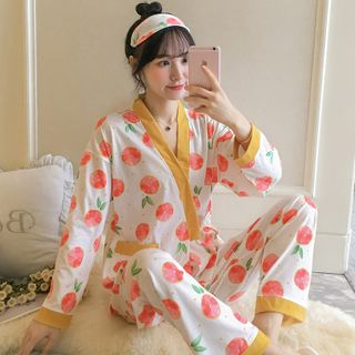 Kimono   Pajama   Pant   Top