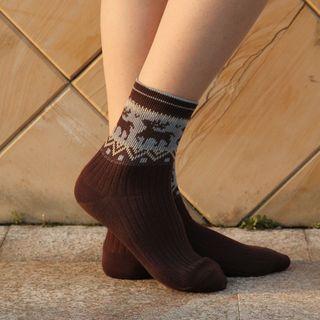 Image of Deer Print Socks