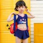 Kids Set: Lettering Tankini + Swim Skirt 1596