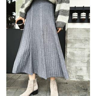 Image of Accordion Knit Midi Skirt