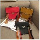 Fringed Faux-Leather Crossbody Bag Red - One Size от YesStyle.com INT