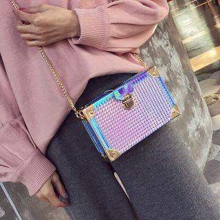 Iridescent Boxy Crossbody Bag