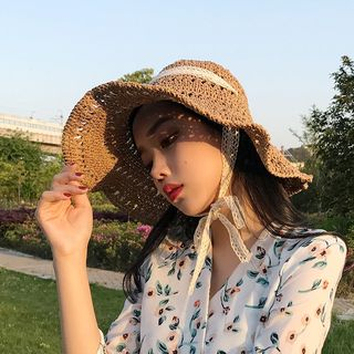 Straw | Lace | Sun | Hat