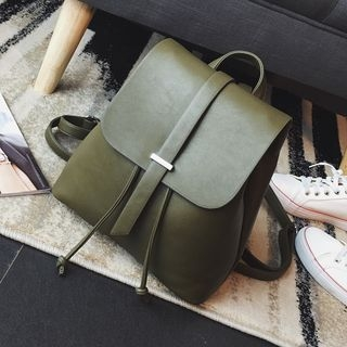 faux-leather-flap-backpack