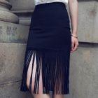 Fringed Pencil Skirt 1596