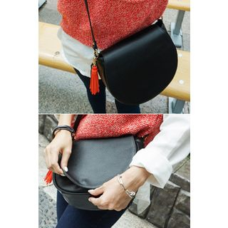 Tassel-Trim Cross Bag
