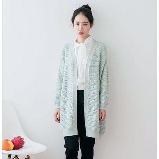 crochet-v-neck-cardigan