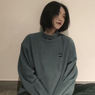 Image of Fleece Turtleneck Pullover