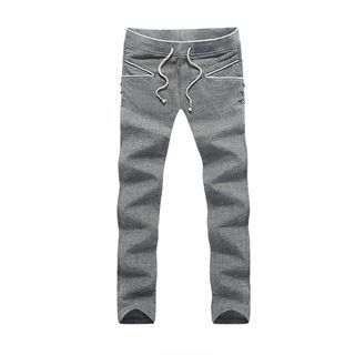 Drawstring Slim-Fit Pants