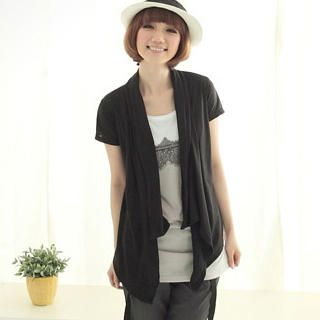 Buy CatWorld Set: Short-Sleeve Cardigan + Lace-Print Tank Top 1023027953