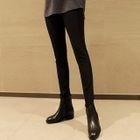 Ribbed Brushed-Fleece Lined Leggings Pants 1596