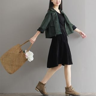 Plain A-Line Skirt 1055073678