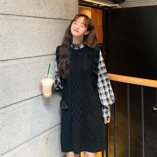 Long-sleeve | Blouse | Plaid | Dress | Mini