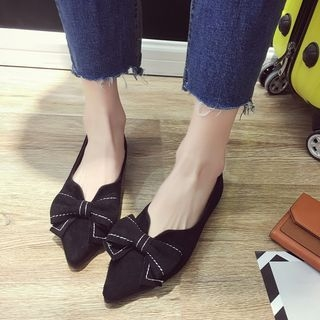 Bow Pointed Flats 1065531441