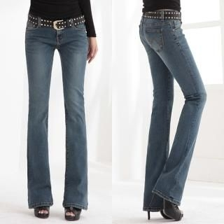 Picture of Blue Is Boot-Cut Jeans 1023042800 (Womens Boot-Cut Pants, Blue Is Pants, South Korea Pants)
