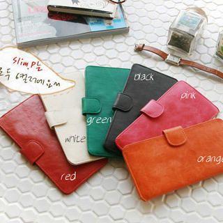 Faux-Leather Long Wallet