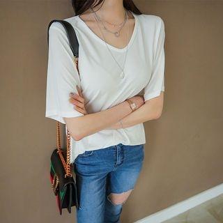 V-Neck Short-Sleeve T-Shirt 1066003954