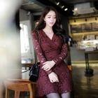 Lace Mini Surplice-Wrap Dress 1596